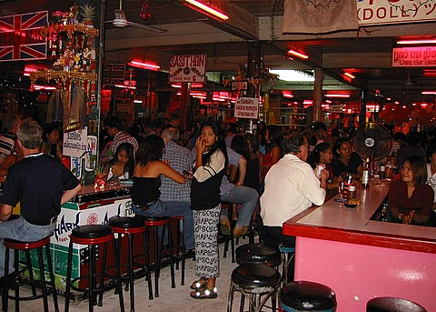 Open-air bar complex in Pattaya