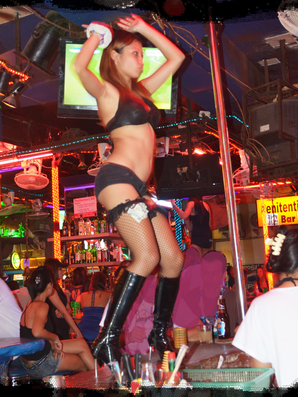 GoGo girl in a club on Walking Street