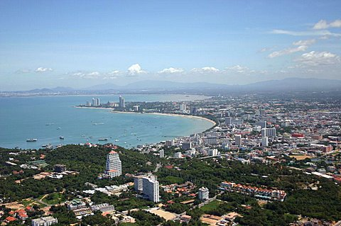 Aerial view of Pattaya