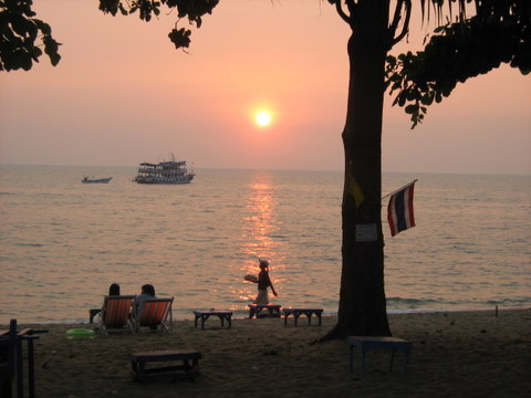 Sunset at Jomtien beach
