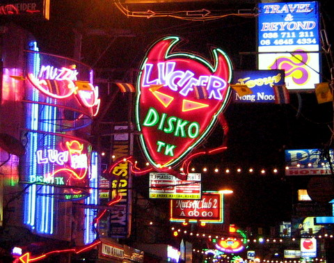 Neon signs on Walking Street