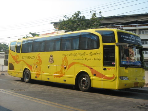 Yellow Airport Bus