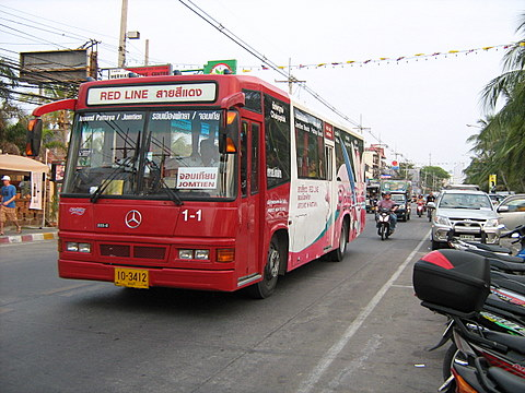 """Pattaya Beach Bus,"" spotted at Jomtien in January 2008"