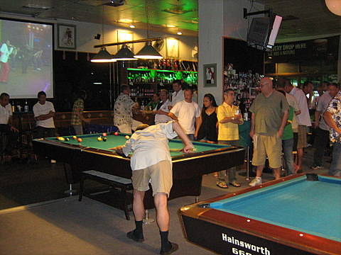 Party at Shoot Pool, January 2008