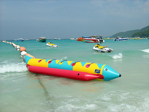 Banana boat on Koh Larn