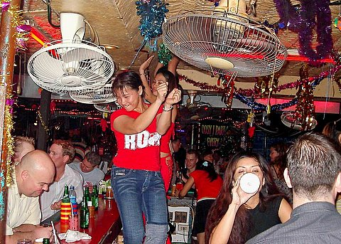 Bar girl dancing in Pattaya